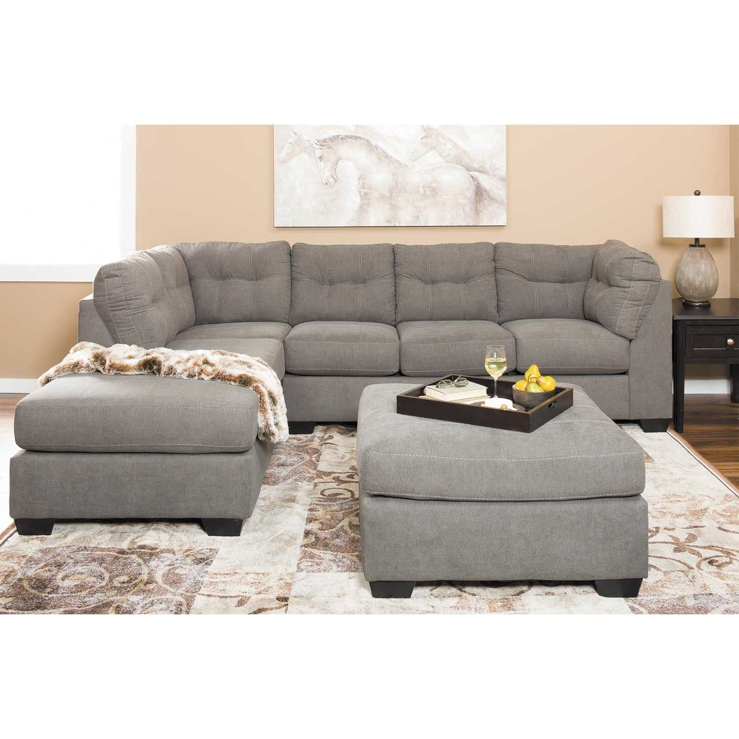Maier Charcoal 2 Piece Sectional With Laf Chaise | 4520016/67 with Arrowmask 2 Piece Sectionals With Sleeper & Left Facing Chaise (Image 18 of 30)
