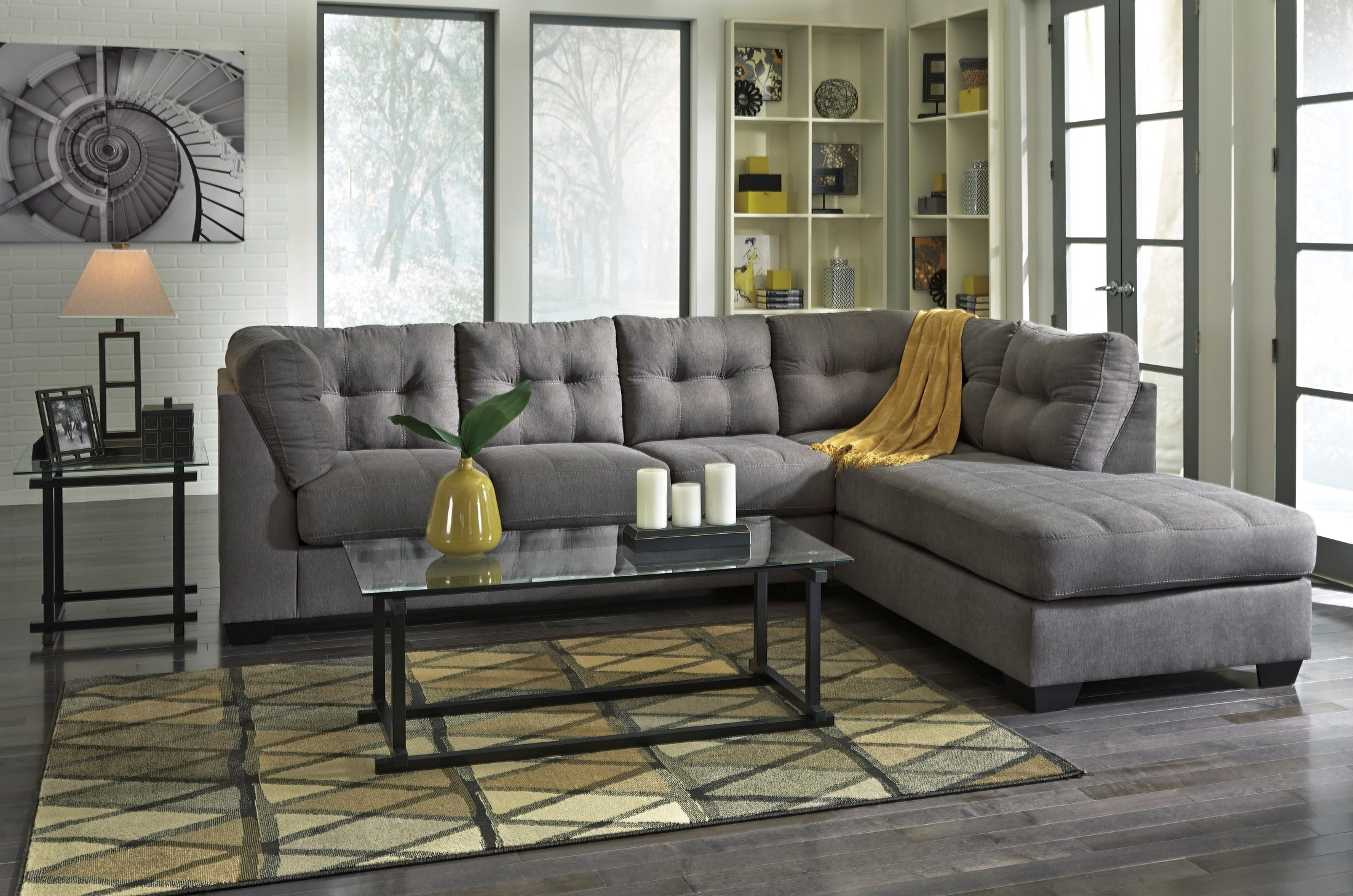 Maier Charcoal Raf Sectional From Ashley (45200-17-66) | Coleman with Meyer 3 Piece Sectionals With Laf Chaise (Image 15 of 30)
