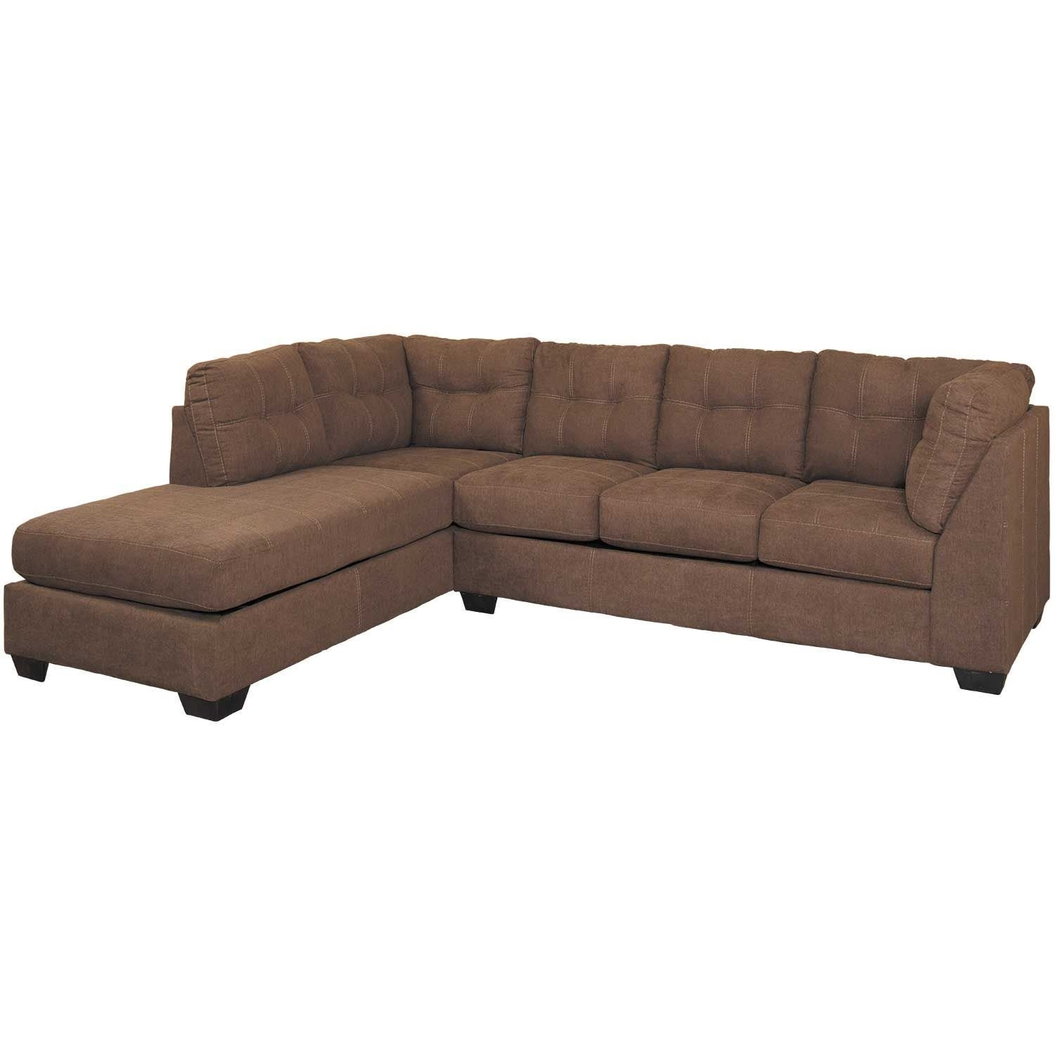 Maier Walnut 2 Piece Sectional With Laf Chaise | 4520116/67 | Ashley in Arrowmask 2 Piece Sectionals With Sleeper & Left Facing Chaise (Image 19 of 30)