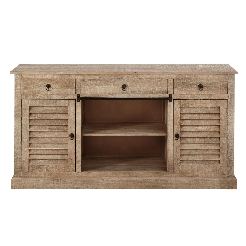 Mango Wood 2-Door 3-Drawer Sideboard | Maisons Du Monde with regard to Mango Wood 2-Door/2-Drawer Sideboards (Image 19 of 30)