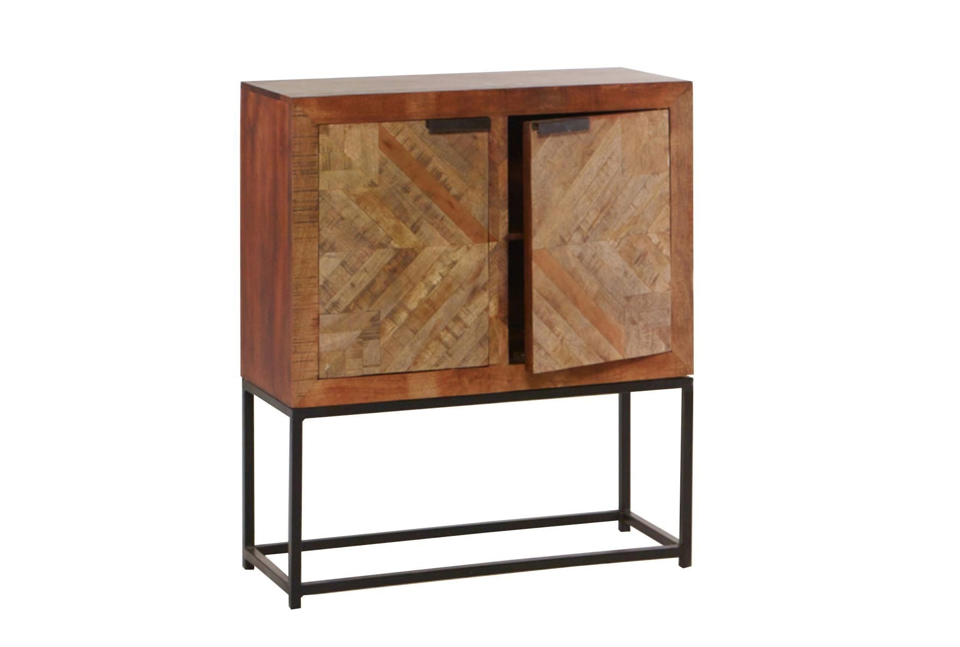 Mango Wood Finish 2-Door Cabinet | Doors And Woods with Natural Mango Wood Finish Sideboards (Image 15 of 30)
