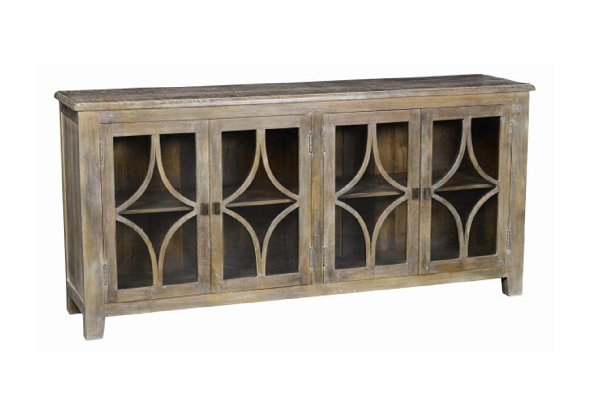 Mango Wood Grey 4-Door Buffet | Products | Pinterest | Products in Mango Wood Grey 4-Drawer 4-Door Sideboards (Image 17 of 30)