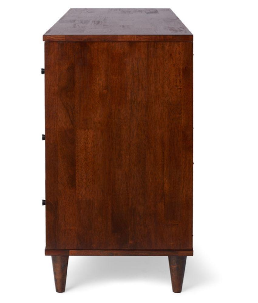Mango Wood Sideboard With 4 Doors (Walnut Finish) - Buy Mango Wood with Walnut Finish 4-Door Sideboards (Image 16 of 30)