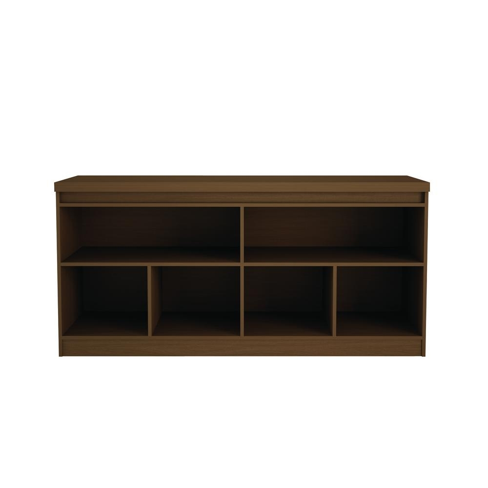 Manhattan Comfort Viennese 62.99 In. Nut Brown 6-Shelf Buffet throughout Tobias 4 Door Sideboards (Image 11 of 30)