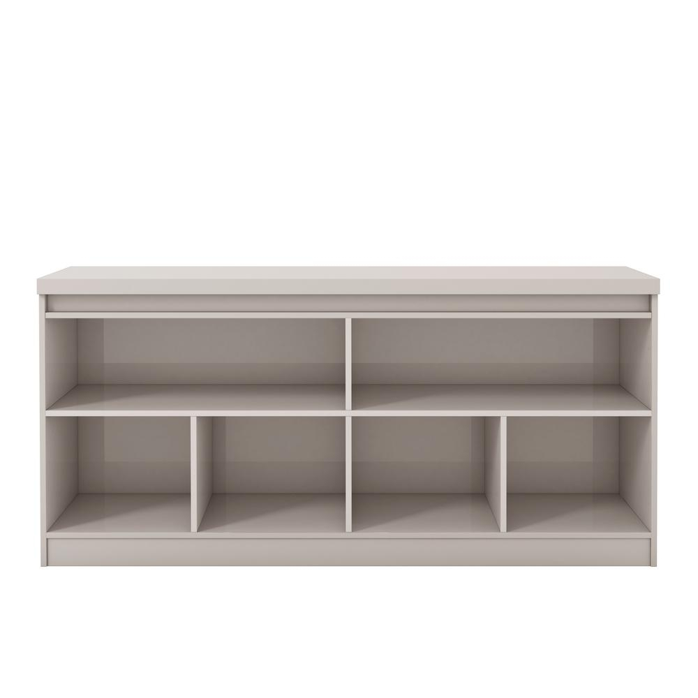 Manhattan Comfort Viennese 62.99 In. Off-White 6-Shelf Buffet pertaining to Tobias 4 Door Sideboards (Image 12 of 30)