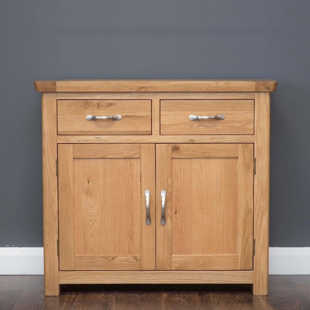 Manhattan Oak 2 Drawer - 2 Door Sideboard - Furniture From Delta regarding Natural Oak Wood 2-Door Sideboards (Image 16 of 30)
