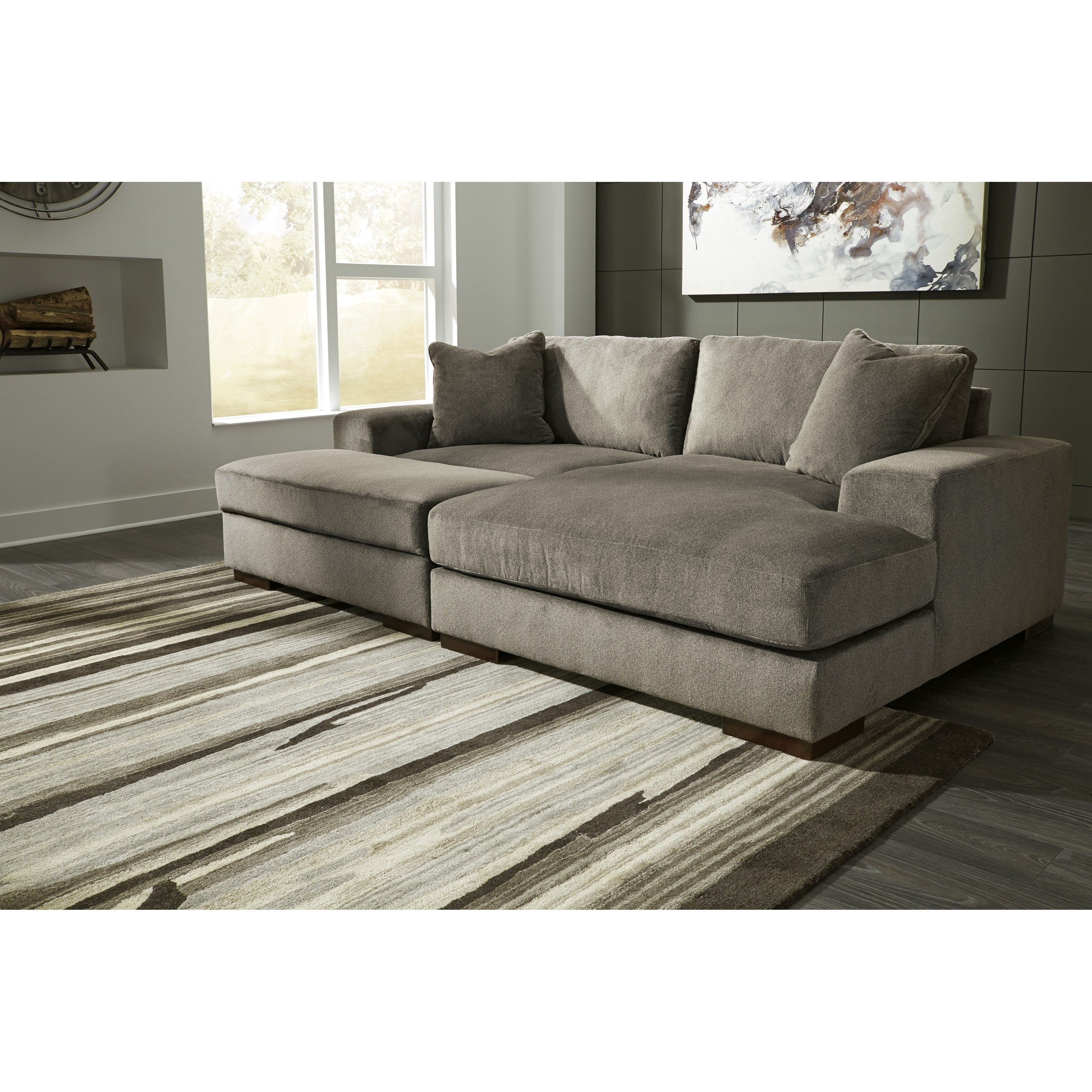 Manzani Contemporary 3 Piece Sectional With Ottomanbenchcraft throughout Benton 4 Piece Sectionals (Image 15 of 30)