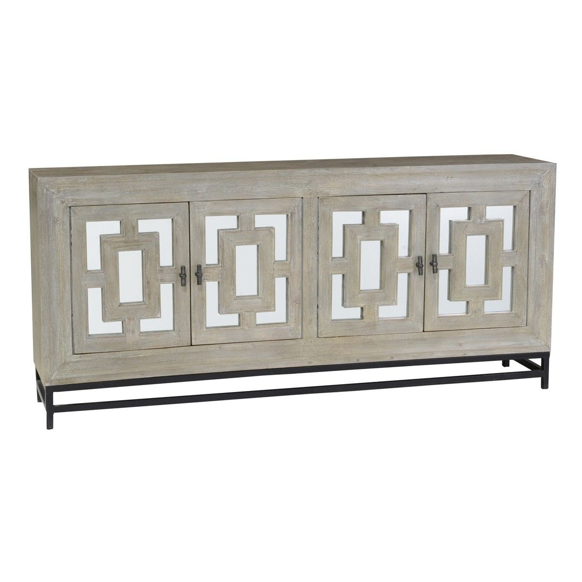 Marabella 4 Door Mirrored Wood Buffet Sideboard | Pinterest | Buffet in Aged Mirrored 4 Door Sideboards (Image 24 of 30)