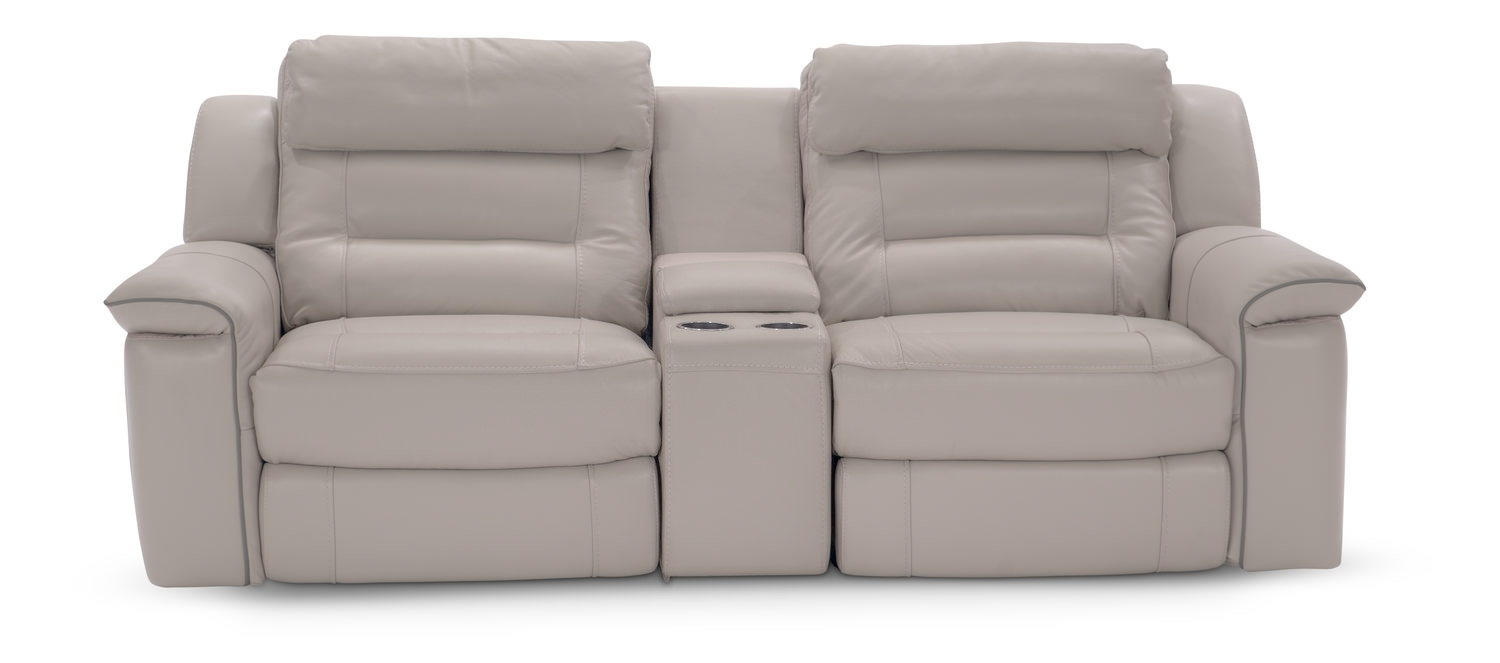 Marcus 3 Piece Leather Power Reclining Home | Hom Furniture with regard to Marcus Grey 6 Piece Sectionals With  Power Headrest & Usb (Image 12 of 30)