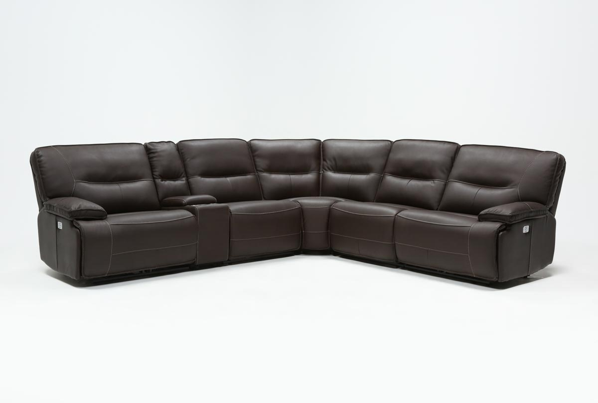 Marcus Chocolate 6 Piece Sectional W/power Headrest And Usb | Living in Marcus Grey 6 Piece Sectionals With  Power Headrest & Usb (Image 14 of 30)