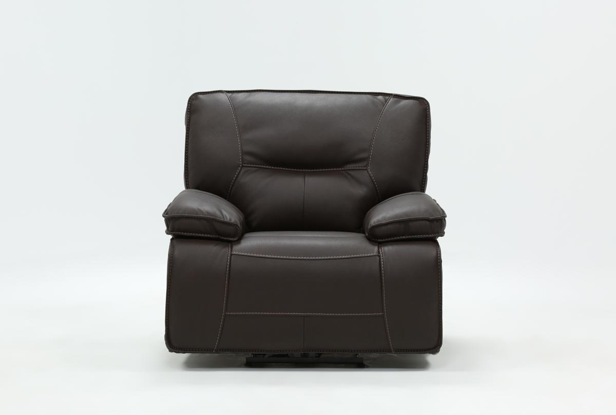 Marcus Chocolate Power Recliner With Power Headrest And Usb | Living in Marcus Chocolate 6 Piece Sectionals With Power Headrest And Usb (Image 11 of 30)