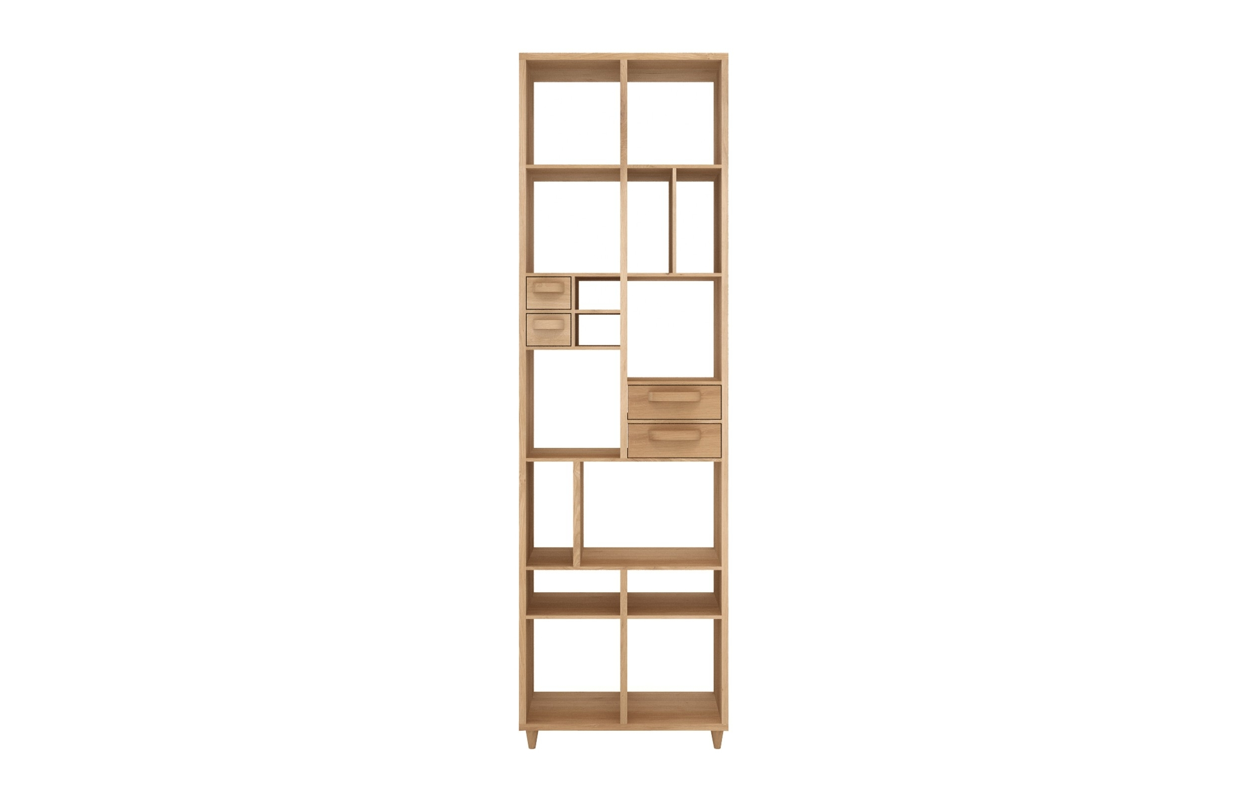 Marius Oak Pirouette Book Rack | Viesso With Marius Dark Grey 3 Piece Sectionals (Photo 13 of 30)