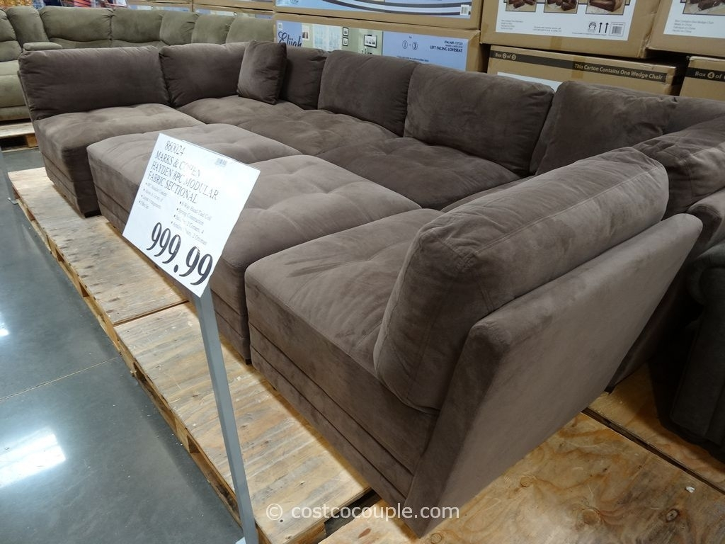 Marks And Cohen Hayden 8-Piece Modular Fabric Sectional Costco | For in Cohen Down 2 Piece Sectionals (Image 22 of 30)