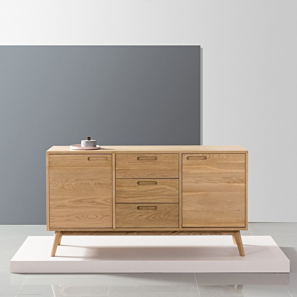 Maximus Sideboard - Solid Oak - 150X45X80Cm - Angled Legs | Solid within Tobias 4 Door Sideboards (Image 13 of 30)