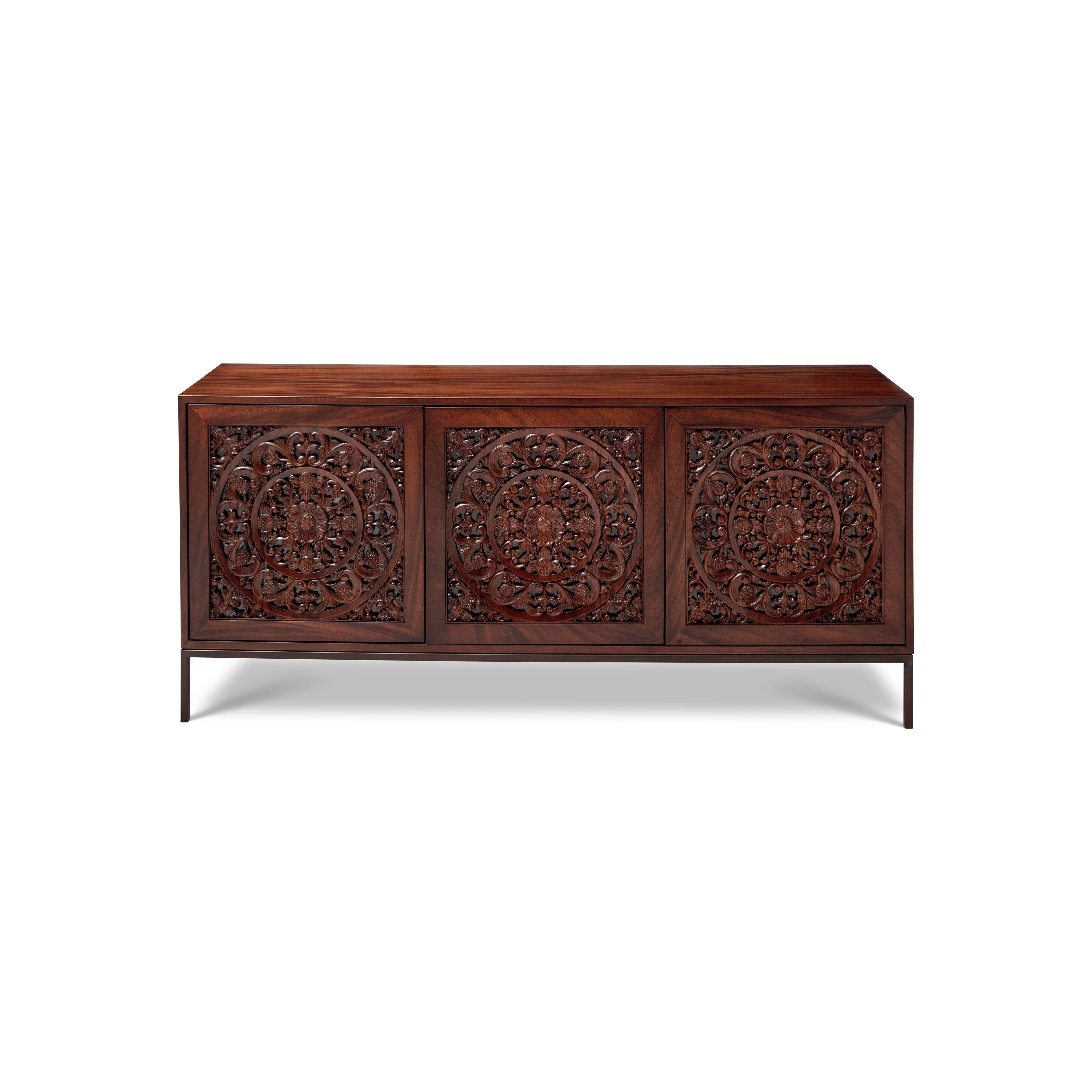 Maya Buffet, Brown | Maya, Buffet And Products With Regard To Corrugated Natural 4 Drawer Sideboards (View 16 of 30)