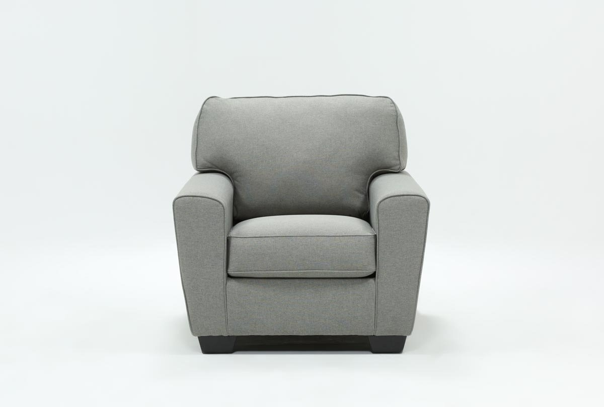 Mcdade Ash Chair | Living Spaces intended for Mcdade Graphite 2 Piece Sectionals With Raf Chaise (Image 16 of 30)