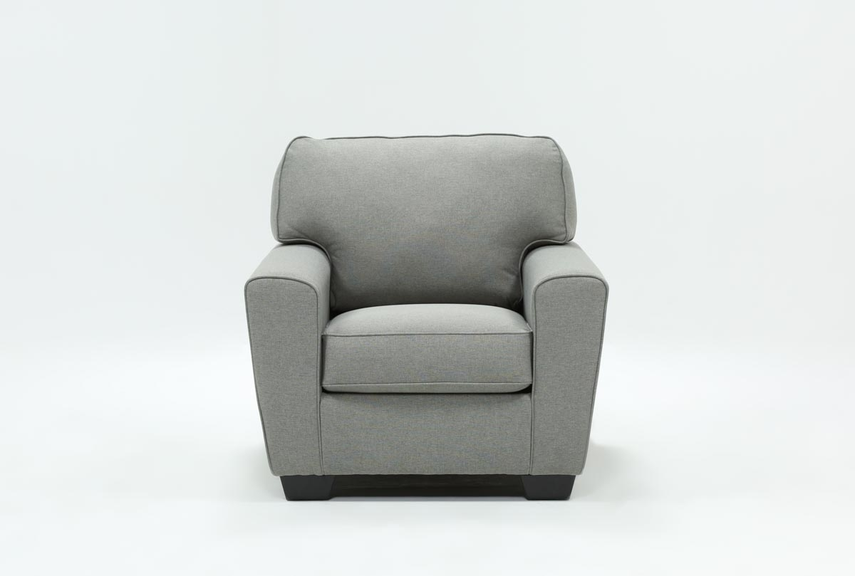 Mcdade Ash Chair | Living Spaces pertaining to Mcdade Graphite 2 Piece Sectionals With Laf Chaise (Image 15 of 30)