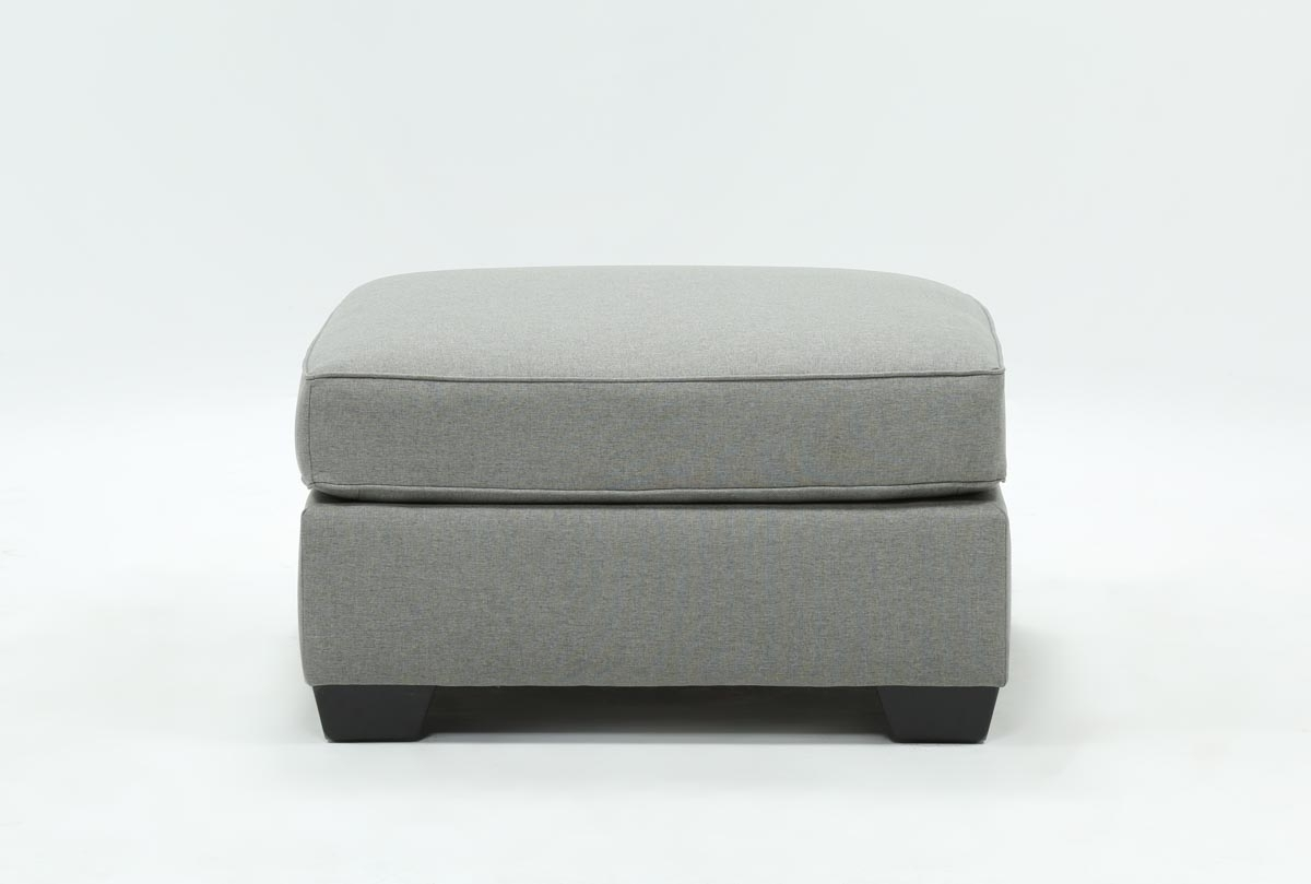 Mcdade Ash Oversized Accent Ottoman | Living Spaces throughout Mcdade Graphite 2 Piece Sectionals With Laf Chaise (Image 16 of 30)