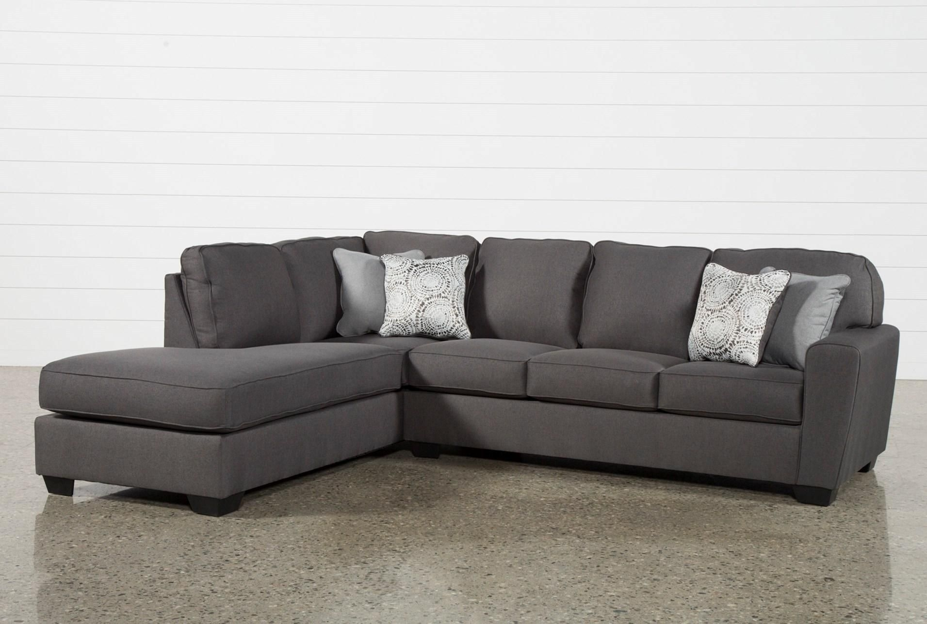 Mcdade Graphite 2 Piece Sectional W/laf Chaise | Graphite, Living throughout Egan Ii Cement Sofa Sectionals With Reversible Chaise (Image 19 of 30)