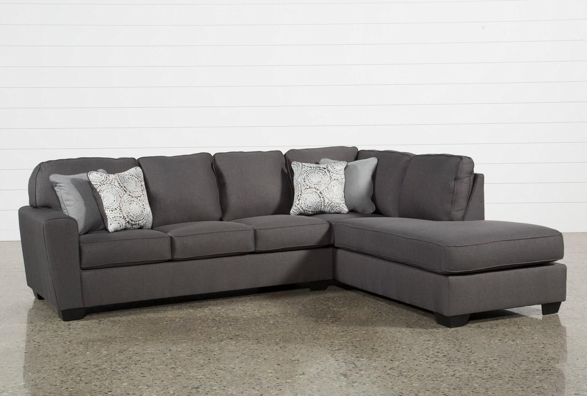 Mcdade Graphite 2 Piece Sectional W/raf Chaise | Livingroom within Cohen Down 2 Piece Sectionals (Image 23 of 30)