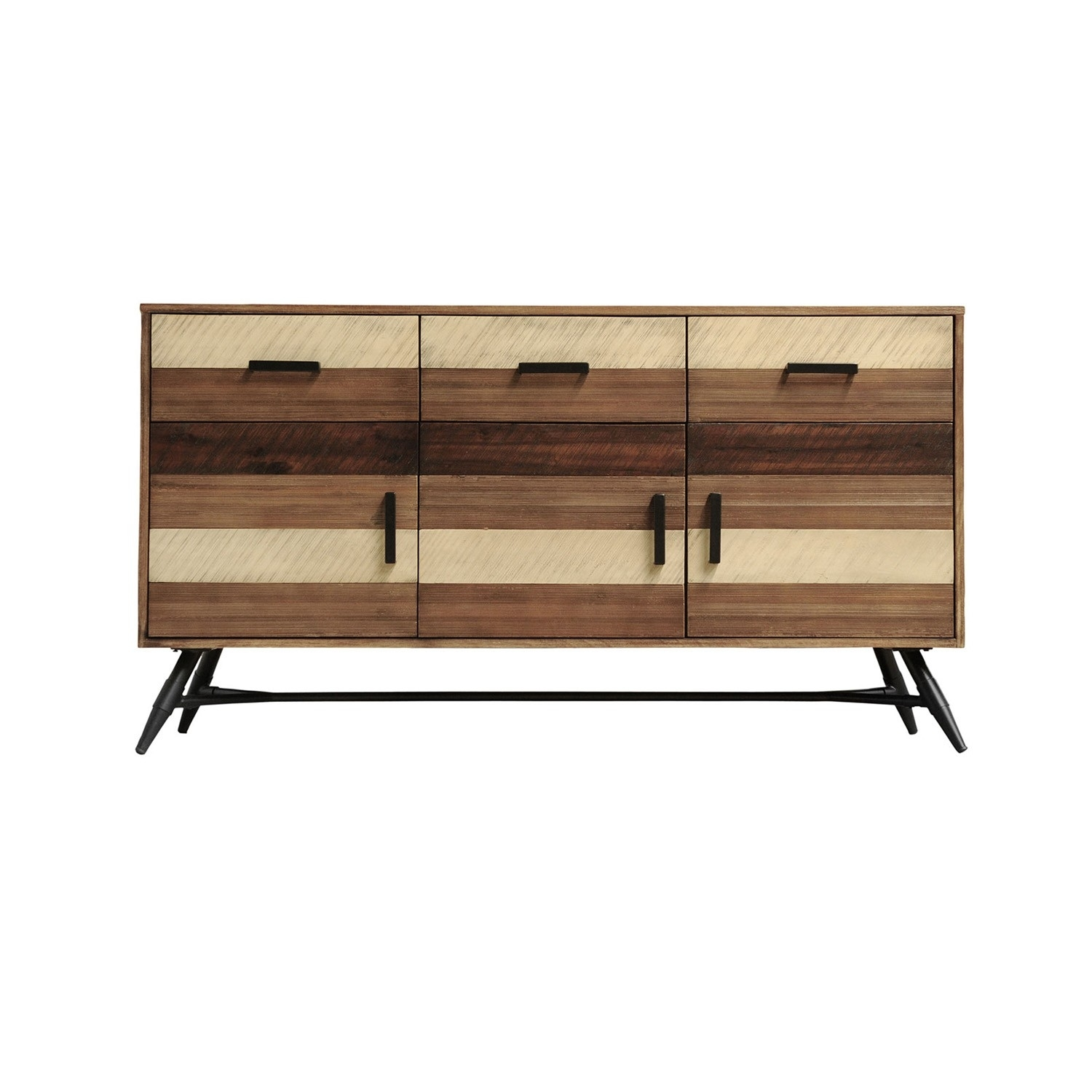 Medley-Buffet-Acacia Wood-Metal Base-63*18*34.4 - Bu1294 Ea 00 pertaining to Acacia Wood 4-Door Sideboards (Image 13 of 30)