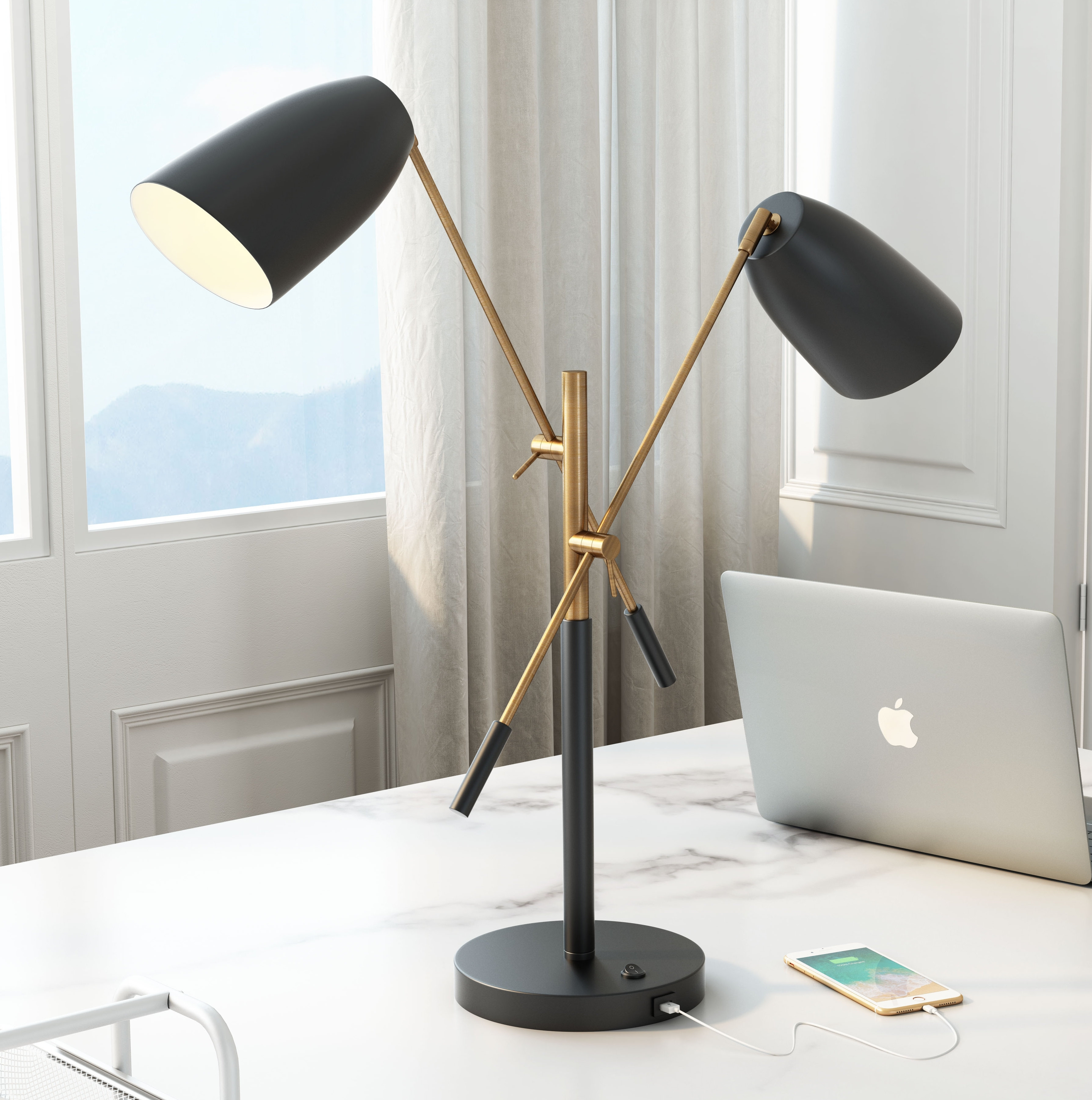 "Mercer41 Helms 28.1"" Desk Lamp 