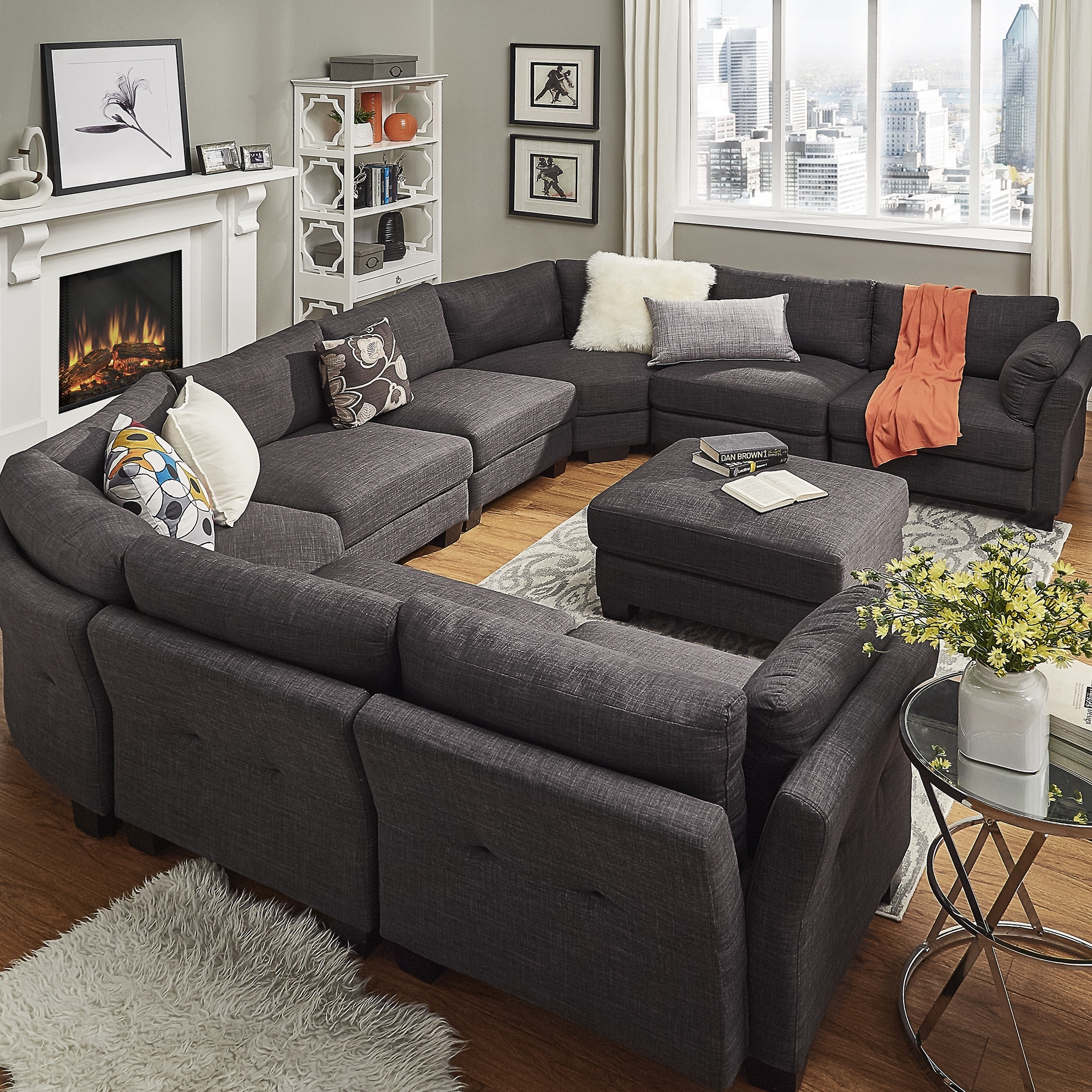 Mercury Row Alkmene Sectional Collection & Reviews | Wayfair within Mesa Foam 2 Piece Sectionals (Image 16 of 30)