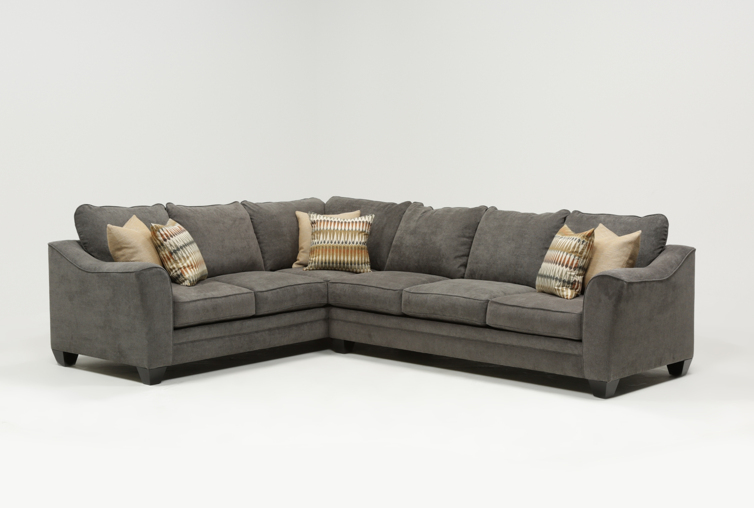 Mesa Foam 2 Piece Sectional | Living Spaces regarding Turdur 3 Piece Sectionals With Raf Loveseat (Image 16 of 30)