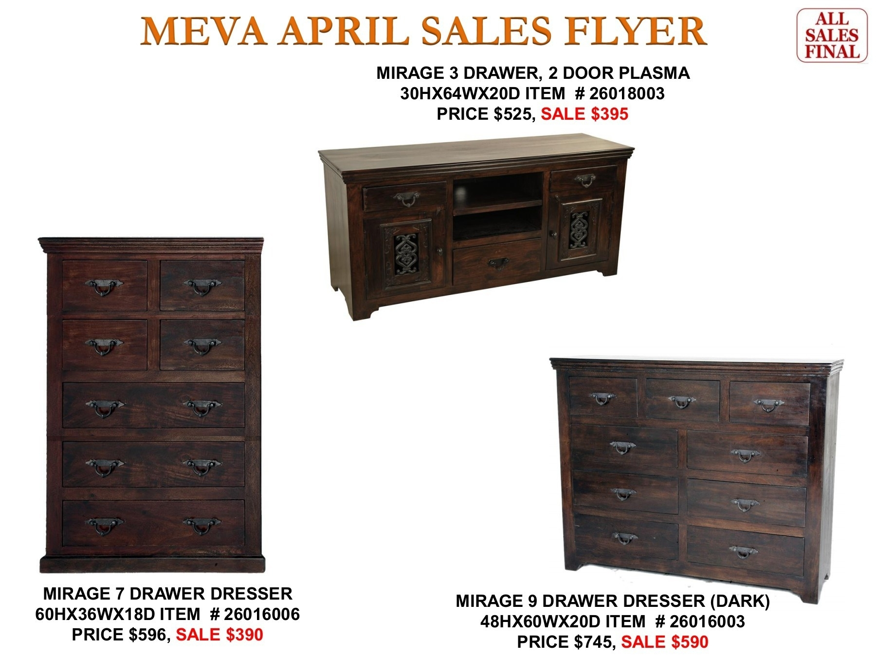 Meva 2017 April Furniture Sales Flyer Pages 1 - 50 - Text Version inside 2-Door/2-Drawer Cast Jali Sideboards (Image 20 of 30)