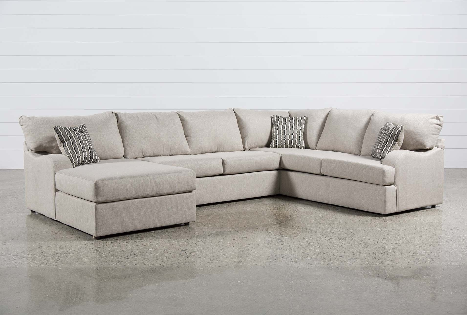 Meyer 3 Piece Sectional W/laf Chaise | Beige Sofa, Living Room pertaining to Harper Foam 3 Piece Sectionals With Raf Chaise (Image 16 of 30)