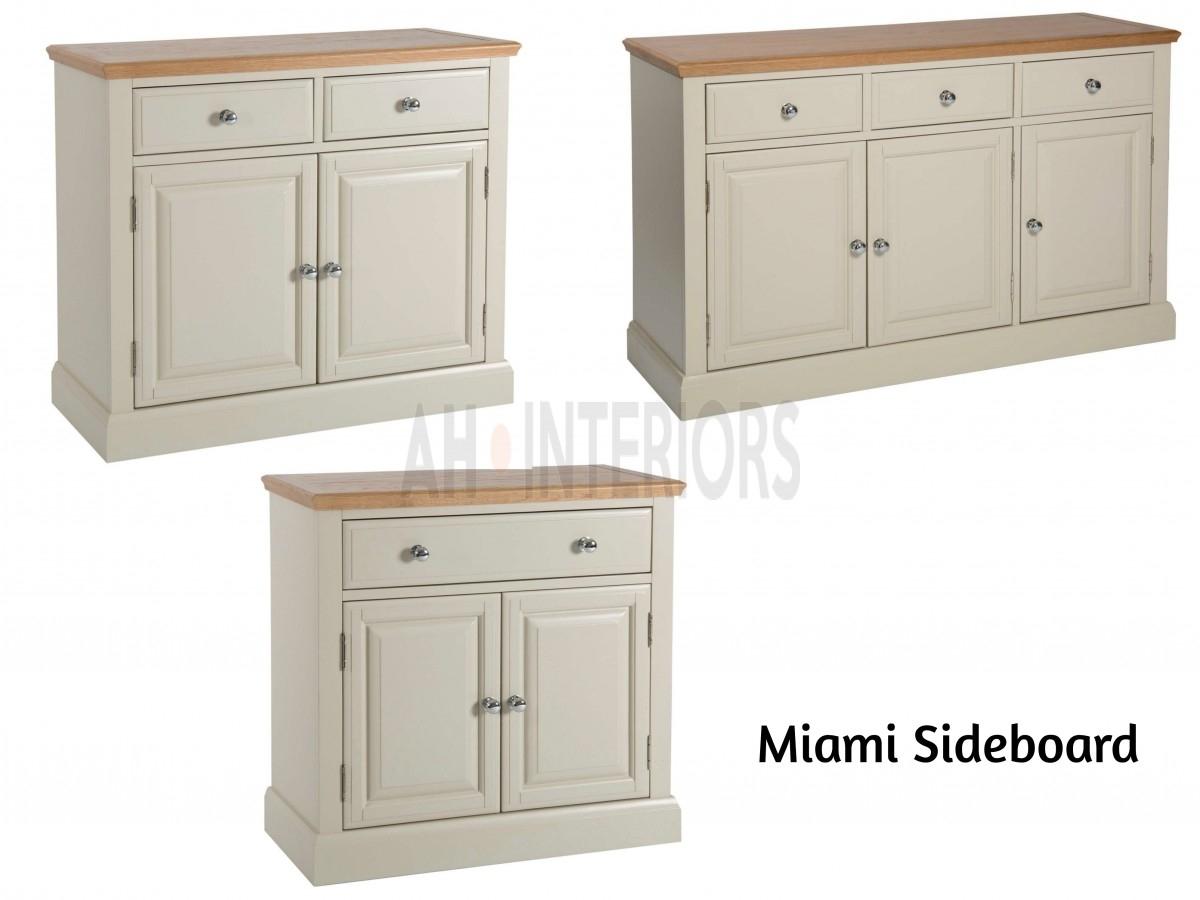 Miami Range - Painted Oak 2 Mini Small Big Sideboard pertaining to 3-Drawer/2-Door White Wash Sideboards (Image 16 of 30)