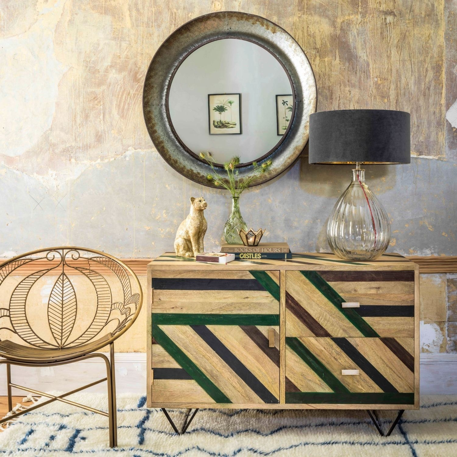 Micah Parquet Sideboard | Graham & Green throughout Parquet Sideboards (Image 12 of 30)