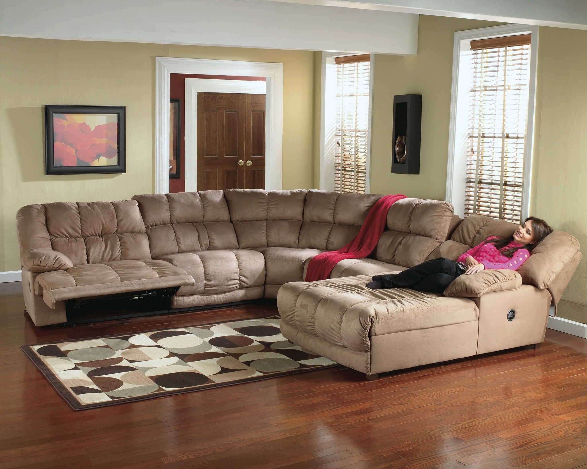 Microfiber Recliner Sectional | Sectional Sofa | Recliner Chaise 260 in Jackson 6 Piece Power Reclining Sectionals With  Sleeper (Image 15 of 30)