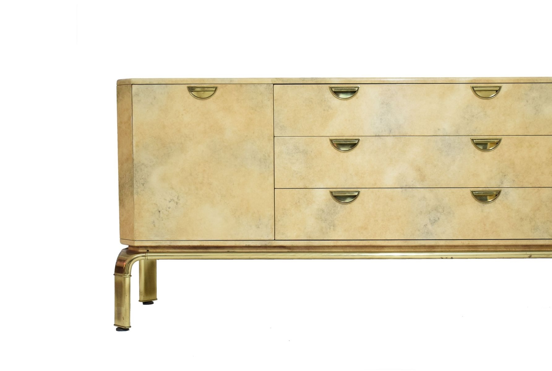 Mid-Century Brass Waterfall Sideboard From John Widdicomb For Sale with regard to Aged Brass Sideboards (Image 21 of 30)