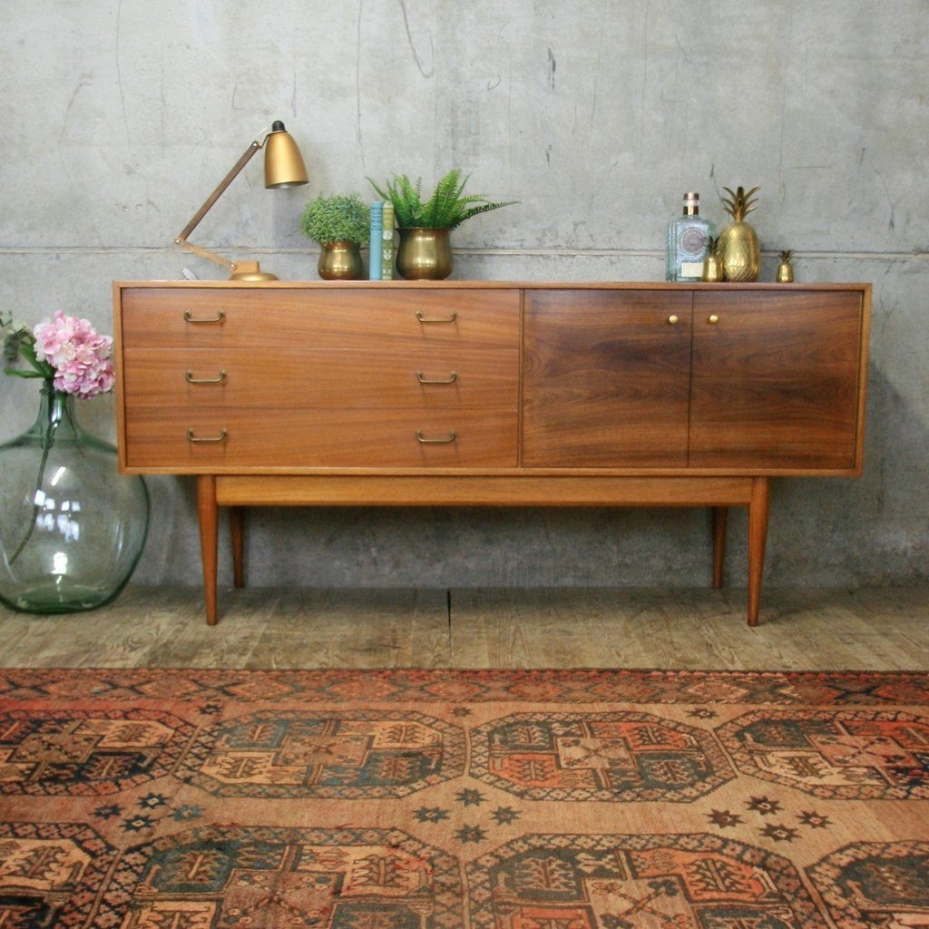 Mid Century Uniflex Walnut Sideboard | Shannondonja | Pinterest pertaining to Girard 4 Door Sideboards (Image 13 of 30)