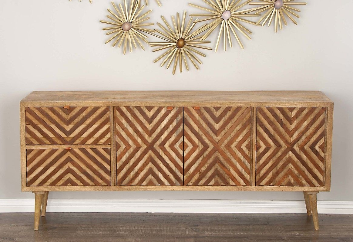 Minturn Rectangular Buffet Table | Furniture For Melba | Pinterest inside Brown Chevron 4-Door Sideboards (Image 20 of 30)