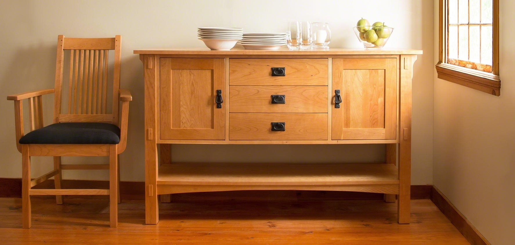 Mission & Craftsman Buffets - Vermont Woods Studios within Craftsman Sideboards (Image 19 of 30)