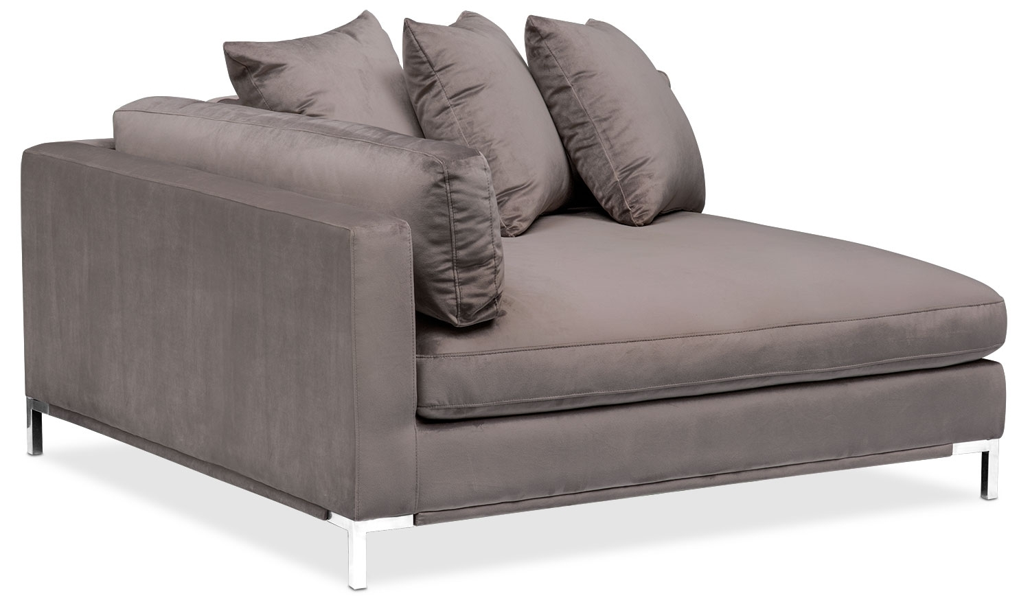 Moda 3-Piece Sectional With Left-Facing Chaise - Oyster | Value City throughout Nico Grey Sectionals With Left Facing Storage Chaise (Image 17 of 30)
