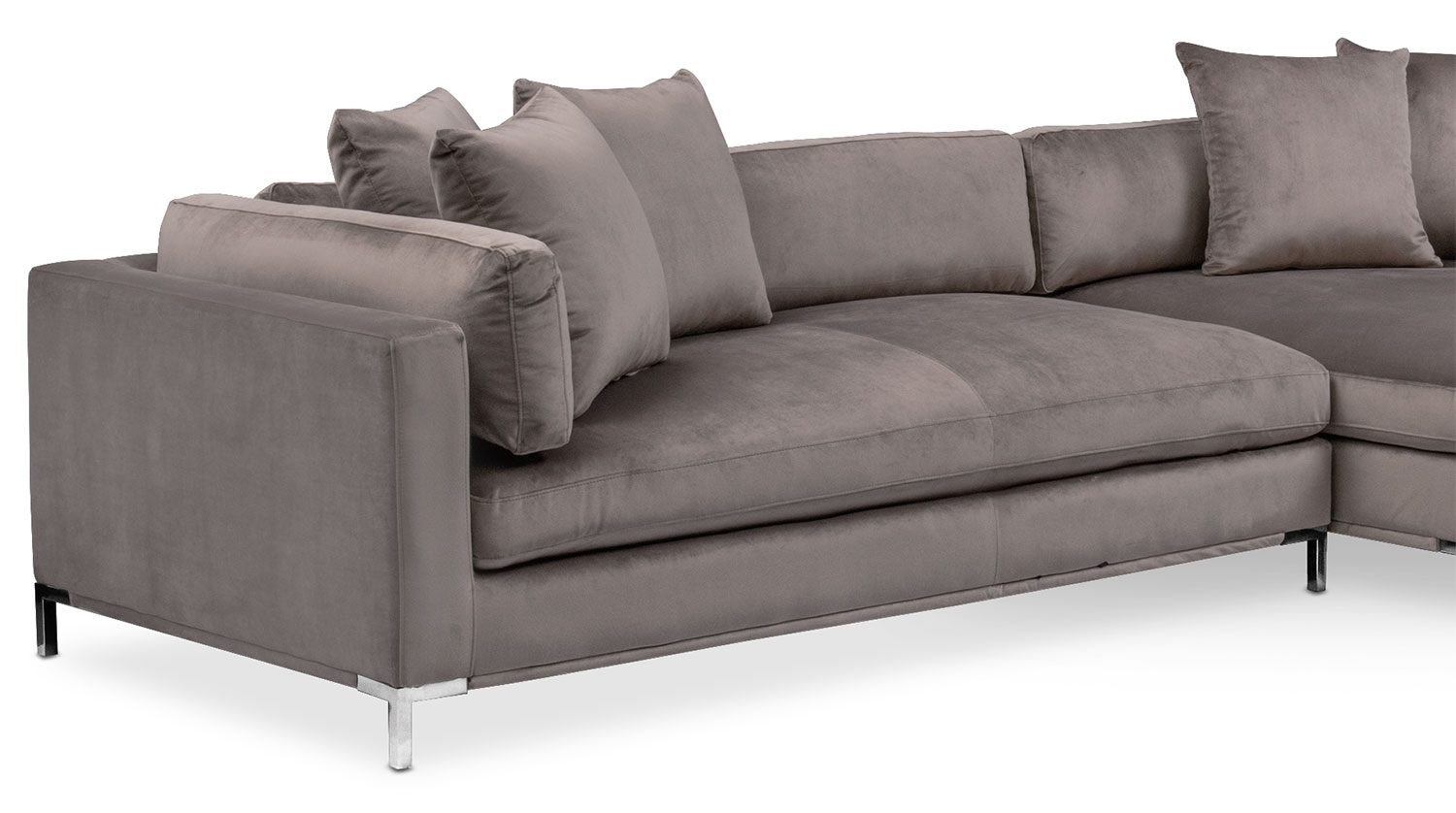 Moda 3-Piece Sectional With Left-Facing Chaise - Oyster | Value City with Nico Grey Sectionals With Left Facing Storage Chaise (Image 18 of 30)