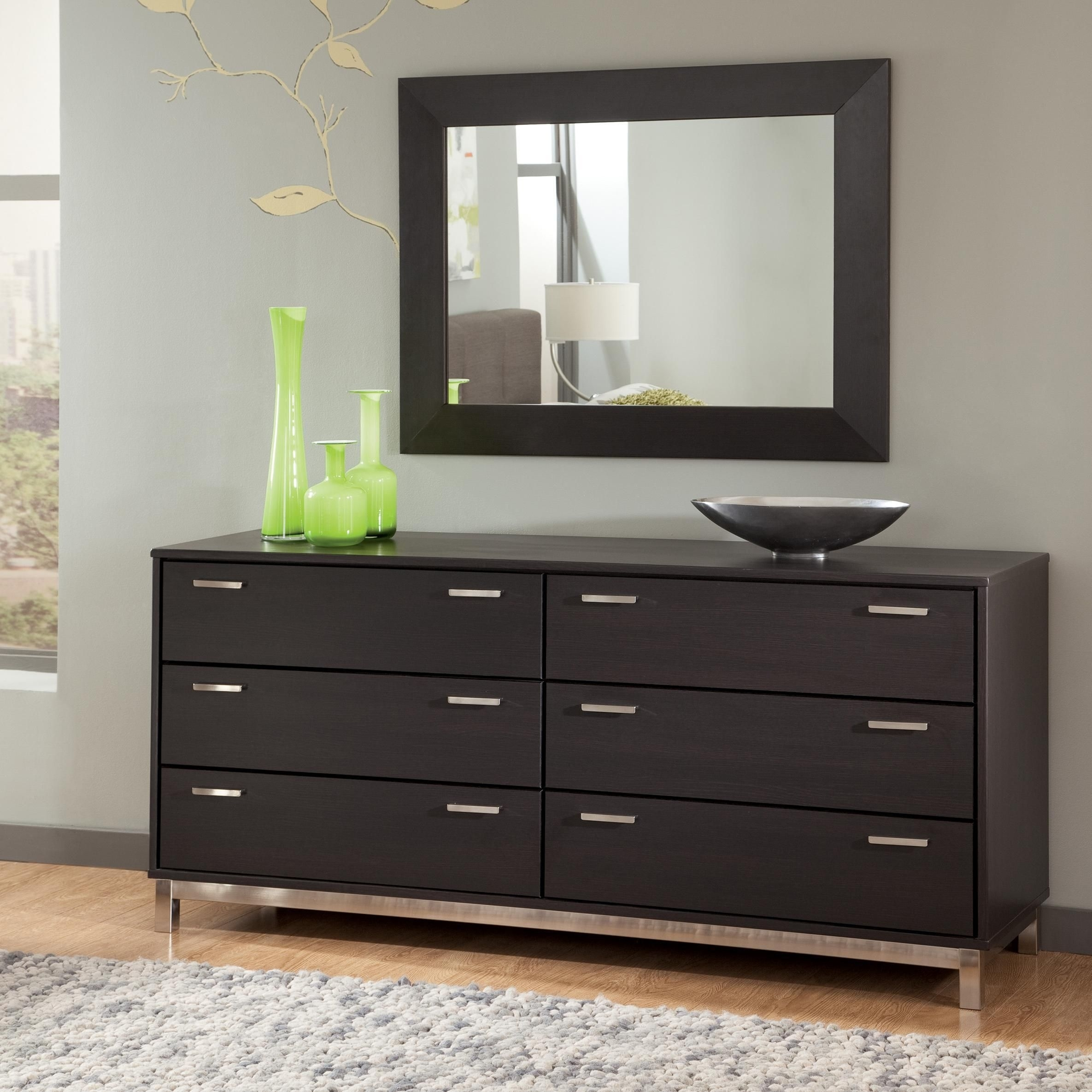 Modern Dresser Furniture With Design Black Color | My Dream Home in Mandara 3-Drawer 2-Door Sideboards (Image 19 of 30)
