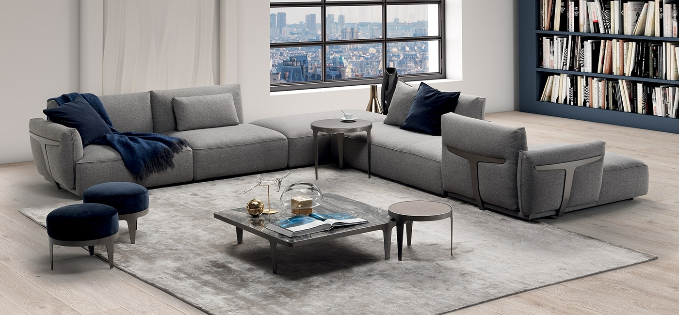 Modern Luxury Sofas | Natuzzi Italia inside London Optical Reversible Sofa Chaise Sectionals (Image 16 of 30)