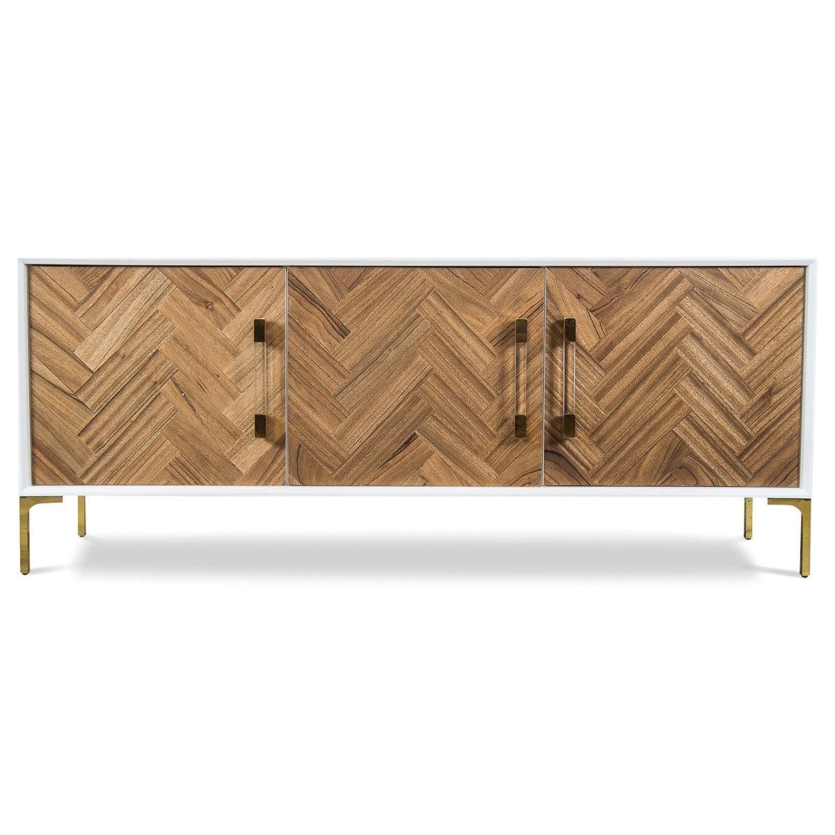 Modshop Amalfi Sideboard   Wayfair with regard to Walnut Finish 4-Door Sideboards (Image 18 of 30)