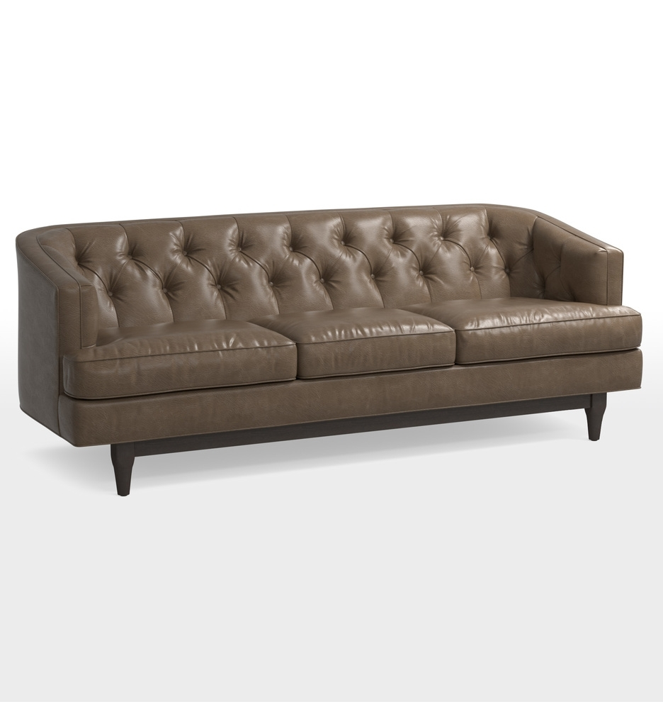 Monrowe Leather Sofa | Rejuvenation for Burton Leather 3 Piece Sectionals With Ottoman (Image 16 of 30)