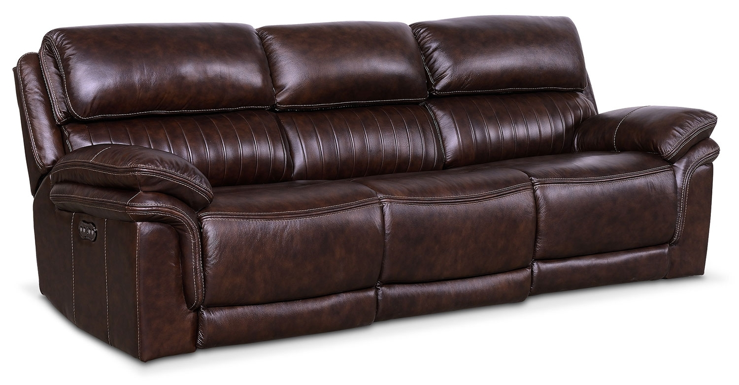 Monterey 3-Piece Power Reclining Sofa - Chocolate | American for Marcus Grey 6 Piece Sectionals With  Power Headrest & Usb (Image 20 of 30)