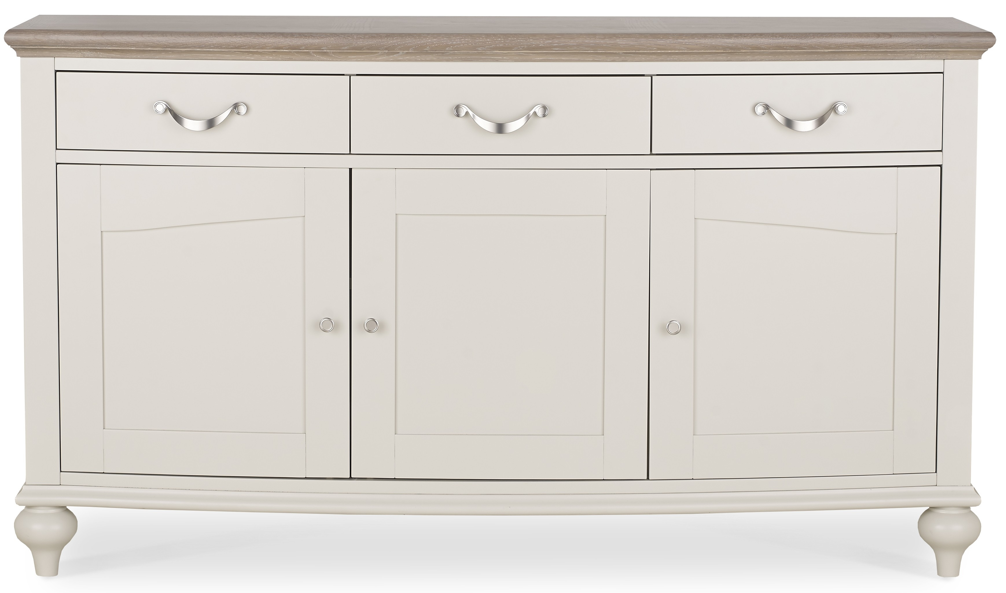 Montreux Grey Washed Oak & Soft Grey Wide Sideboard - Style Our Home with regard to White Wash 2-Door Sideboards (Image 14 of 30)