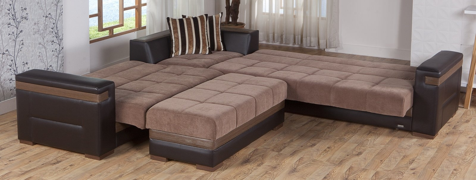 Moon Troya Brown Sectional Sofa Istikbal Sunset Sec Couch Create intended for Tenny Dark Grey 2 Piece Right Facing Chaise Sectionals With 2 Headrest (Image 18 of 30)