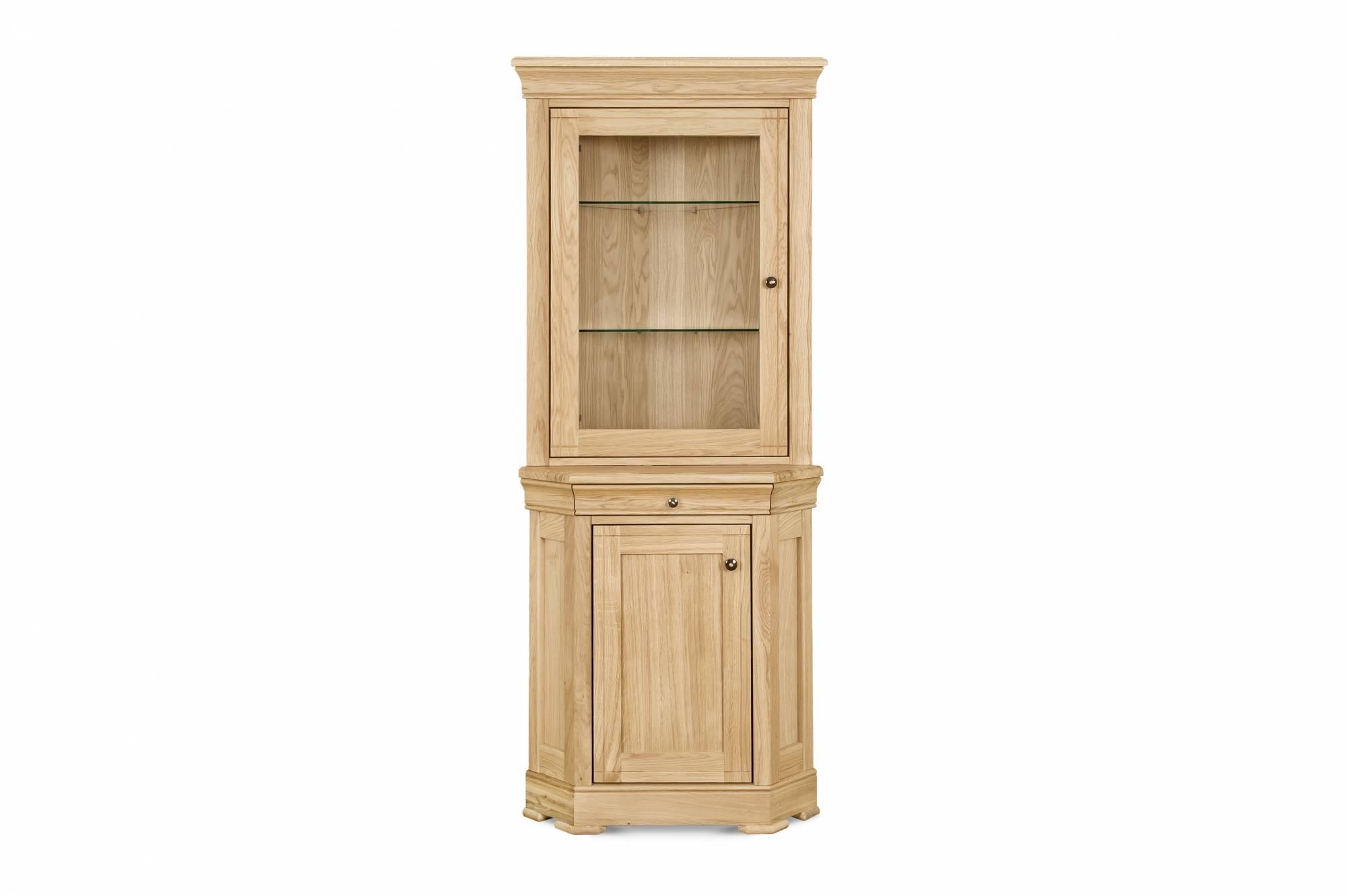 Moreno Oak Corner Display Cabinetclemence Richards At Lukehurst in Oil Pale Finish 3-Door Sideboards (Image 18 of 30)