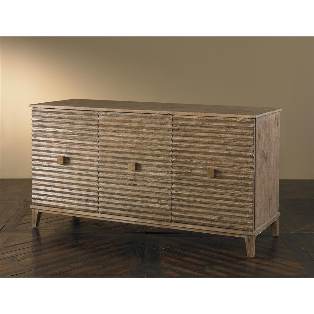 Mr. Brown Belmont Modern Classic Rustic Pine Corrugated Sideboard regarding Corrugated White Wash Sideboards (Image 11 of 30)