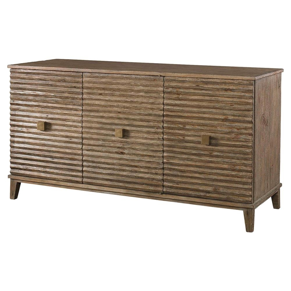 Mr. Brown Belmont Modern Classic Rustic Pine Corrugated Sideboard throughout Corrugated Metal Sideboards (Image 16 of 30)