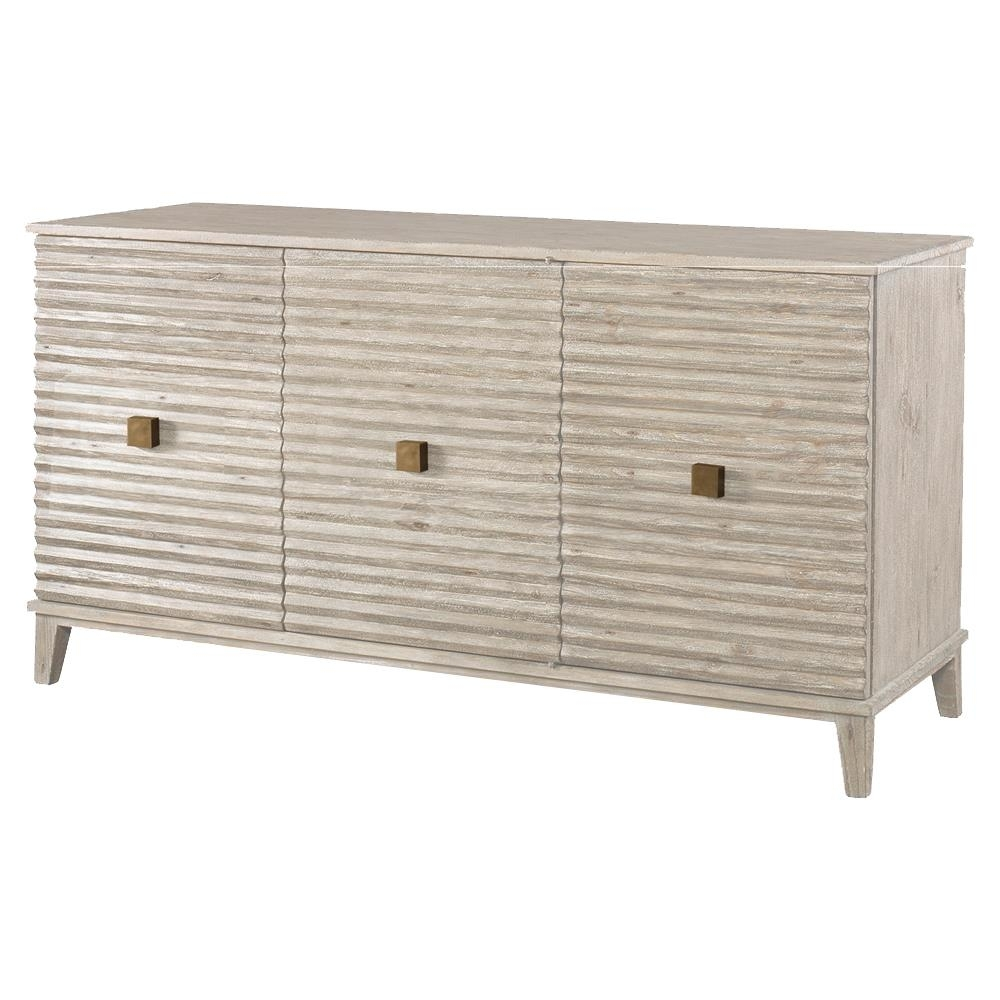 Mr. Brown Belmont Modern Classic Rustic White Corrugated Sideboard in Corrugated Metal Sideboards (Image 17 of 30)